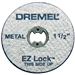 "Dremel EZ456 1-1/2"" Rotary Tool Cut-Off Wheels for Metal, 5-Pack"