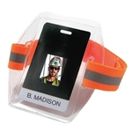 Ergodyne 3386HV Vinyl Arm Band ID/Badge Holder - Orange
