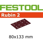 Festool 499048  P80 Grit, Rubin 2 Abrasives for RTS 400 / LS 130, Pack of 50-Sanders : Abrasives : RTS 400 Abrasives