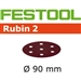 Festool 499078  P60 Grit, Rubin 2 Abrasives for RO 90, Pack of 50-Sanders : Abrasives : RO 90 Abrasives