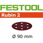 Festool 499080  P100 Grit, Rubin 2 Abrasives for RO 90, Pack of 50-Sanders : Abrasives : RO 90 Abrasives