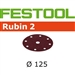 Festool 499097  P120 Grit, Rubin 2 Abrasives for RO 125 / ETS 125, Pack of 50-Sanders : Abrasives : ETS 125 and Rotex RO 125 Abrasives