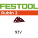 Festool 499164  P100 Grit, Rubin 2 Abrasives for RO 90 / DX 93, Pack of 50-Sanders : Abrasives : Deltex 93 E Abrasives