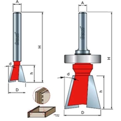 Freud Router Bits: 22-508 Dovetail Bit - Joinery