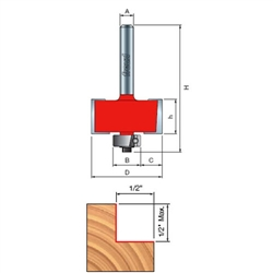 Freud Router Bits: 32-101 Rabbeting Bit - Joinery
