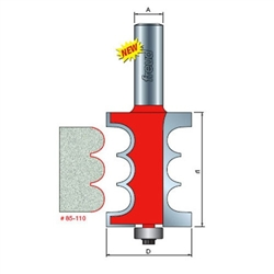 Freud Router Bits: 85-110 Solid Surface Edge Profile - Solid Surface