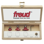Freud 89-100 3 PIECE ROUND/OVER BEADING SET Router Bit Set