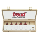 Freud 89-102 5 PIECE ROUND OVER/BEADING SET Router Bit Set