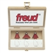Freud 89-250 3 PIECE CHAMFER BIT SET Router Bit Set