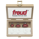 Freud 89-550 3 PIECE COVE BIT SET Router Bit set