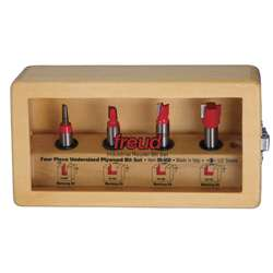Freud 89-650 4 Piece UNDERSIZED PLYWOOD SET Router Bit Set
