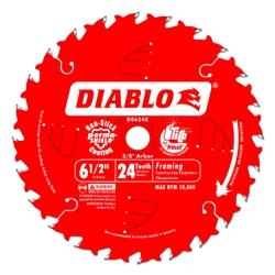 Diablo D0624X 6-1/2 Inch Circular Saw Blades for Wood Cutting Cutting by Freud