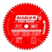Diablo D0756F 7-1/4 Inch Circular Saw Blades for Metal Cutting Cutting by Freud