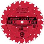 Freud LM72R010 10-Inch 24 Tooth FTG Ripping Saw Blade with 5/8-Inch Arbor and PermaShield Coating