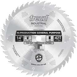 Freud LU71M014 14 Inch X 42 Tooth ATB General Purpose Saw Blade