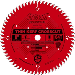 "Freud LU74R008 8 Inch x 56 Tooth 5/8"" Arbor Thin Crosscut Carbide-Tipped Saw Blade"