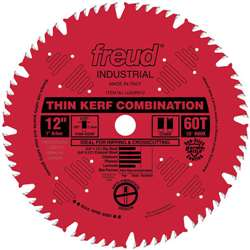 Freud LU83R012 12 inch 60 tooth THIN KERF COMBINATION SAW BLADE RED