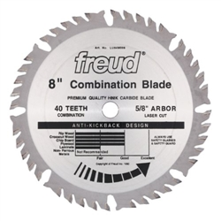 Freud LU84M008 8X40X5/8 COMBINATION SAW BLADE