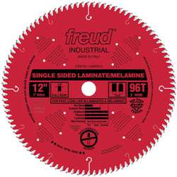 Freud Tool LU98R012 12 Inch X 96 Tooth X 1 Arbor Carbide Industrial Laminate Blade with RED Perma SHIELD