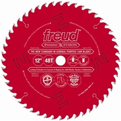 Freud P412 Premier Fusion 12-Inch 48 Tooth Hi-ATB Perma-Shield Coated Saw Blade with 1-Inch Arbor