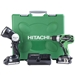 "Hitachi DS18DSAL 18V 1/2"" Driver Drill, 1.5 Ah Slide Li-Ion, 460 in/lbs torque, 2 Batteries"