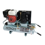 Hitachi EC25E 5.5 H.P. Gas Powered, 8 Gallon Wheelbarrow Air Compressor