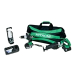 Hitachi KC18DAL 18 Volt Lithium Ion 3-Piece Combo Kit