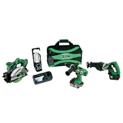 Hitachi KC18DBL 18 Volt Lithium Ion Cordless Kit