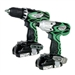 Hitachi KC18DFL 18-Volt Compact Lithiuim-Ion Cordless Driver Drill and Impact Driver Combo Kit
