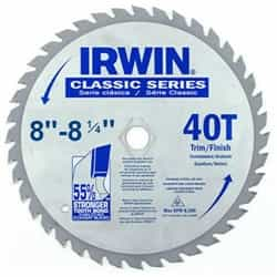 "Irwin 15250 8 - 8-1/4"" x 40T x Universal Arbor Circular Saw Blade for Wood-Carded"