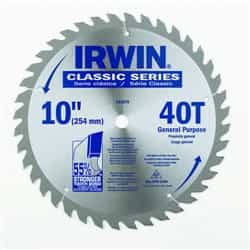 "Irwin 15270 10"" x 40T x 5/8"" Circular Saw Blade for Wood-Carded"