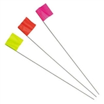 "Irwin 2034207 2.5"" X 3.5"" X 21"" Red Stake Flags - - Marking Tools"