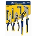 "Irwin 2078704 3 Pc. Traditional Pliers Set - 6"" Long Nose, 6"" Slip Joint & 10"" Groove Joint"