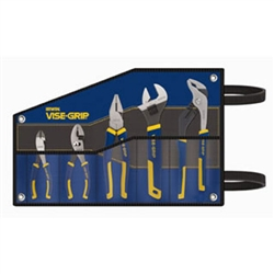 "Irwin 2078708 5 Pc. Traditional Pliers Kitbag Set - 6"" Slip Joint, 6"" Diagonal, 8"" Lineman, 10"" Adj. Wrench, 10"" Groove Joint"