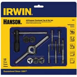 Irwin 24605 12 Pc. Machine Screw/Fractional Tap - Tap Die Extraction