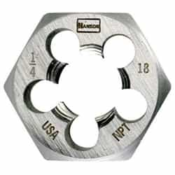 "Irwin 6702 1/8"" - 27 Npt, Hcs Hex 1"" Across Fl - Tap Die Extraction"