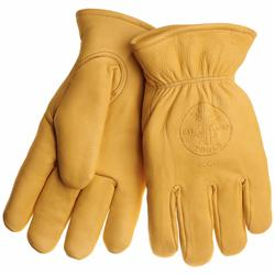 Klein Tools 40018 Deerskin Work Gloves - Lined - XL