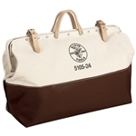 Klein Tools 5105-24 24'' (610 mm) High-Bottom Canvas Tool Bag