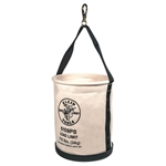 Klein Tools 5109PS Wide-Opening Straight-Wall Bucket - Inside Pocket and Swivel Snap