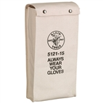 Klein Tools 5121-15 15'' (381 mm) Glove Bag  No. 4 Canvas