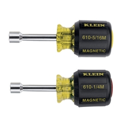 Klein Tools 610M Magnetic Tip Nut Driver Set - 1-1/2'' Hollow Shafts