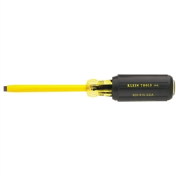 Klein Tools 621-10 Coated 3/16'' (5 mm) Cabinet-Tip Screwdriver  10'' (254 mm) Round-Shank