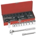 Klein Tools 65510 12-Piece 1/2-Inch Drive Socket Wrench Set