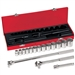 Klein Tools 65512 16-Piece 1/2-Inch Drive Socket Wrench Set