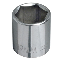Klein Tools 65919 3/8-Inch Drive  19 mm Metric 6-Point Socket