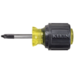 Klein Tools 668 #1 Square-Recess Tip Screwdriver  1-1/2'' (38 mm) Round-Shank