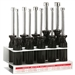 Klein Tools 70200 10-Piece Metric Nut-Driver Set with Stand - 3'' (76 mm)-Shanks