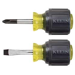 Klein Tools 85071 2-Piece Stubby Screwdriver Set