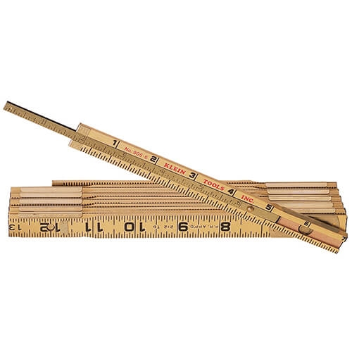 Klein Tools 905-6 Wood Folding Rules with Extension