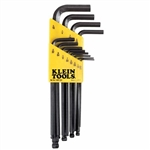 Klein Tools BLMK10 9-Piece L-Style Ball-End Hex-Key Caddy Set - Metric